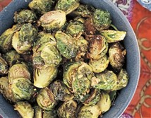 "Roasted buttered brussels sprouts from ""The Farmhouse Chef"" by Jamie DeMent"