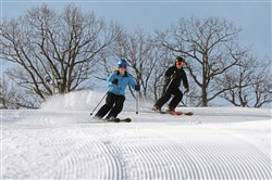 Seven Springs skiers on Gunnar Slope during a previous season.