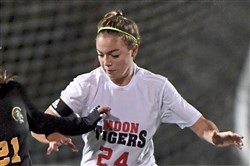 Moon's Delaney Snyder scored the game-winning goal in the PIAA Class 3A championship.