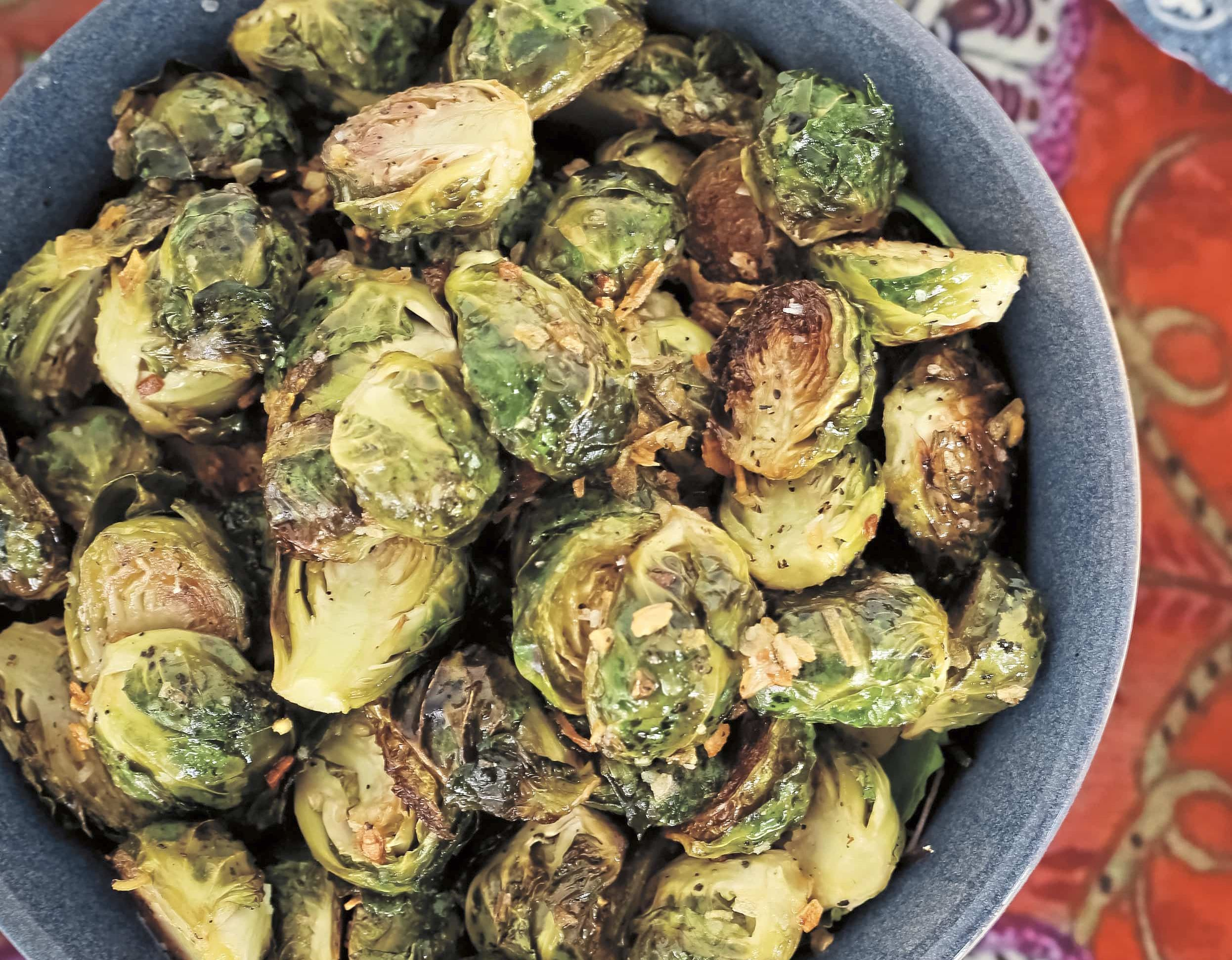 "NS thanksgiving sides buttered brussels sprouts Roasted buttered brussels sprouts from ""The Farmhouse Chef"" by Jamie DeMent"