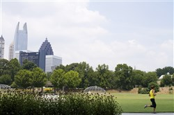 The Atlanta skyline seen from Piedmont Park in this July 20, 2011, file photo.