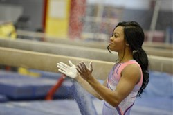 This file photo shows Gabby Douglas.