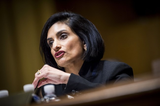 Seema Verma, head of the Centers for Medicare and Medicaid Services.