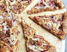 Paired with barbecue sauce, leftover Thanksgiving turkey makes a great topping for pizza.