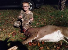 During his first Mentored Youth hunt with his dad, Luca Guzowski, 8, of West Deer took his first deer at around 6 p.m. Oct. 20 in Greene County.