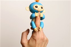 Fingerlings by WowWee for the Shop Holiday children's gift ideas photographed Wednesday, November 1, 2017, on the North Side, Pittsburgh. These little critters fit on a finger and respond to voice and touch, giggling, burping and snoring when rocked to sleep. $19.99, Learning Express and other retailers. (Rebecca Droke/Post-Gazette)
