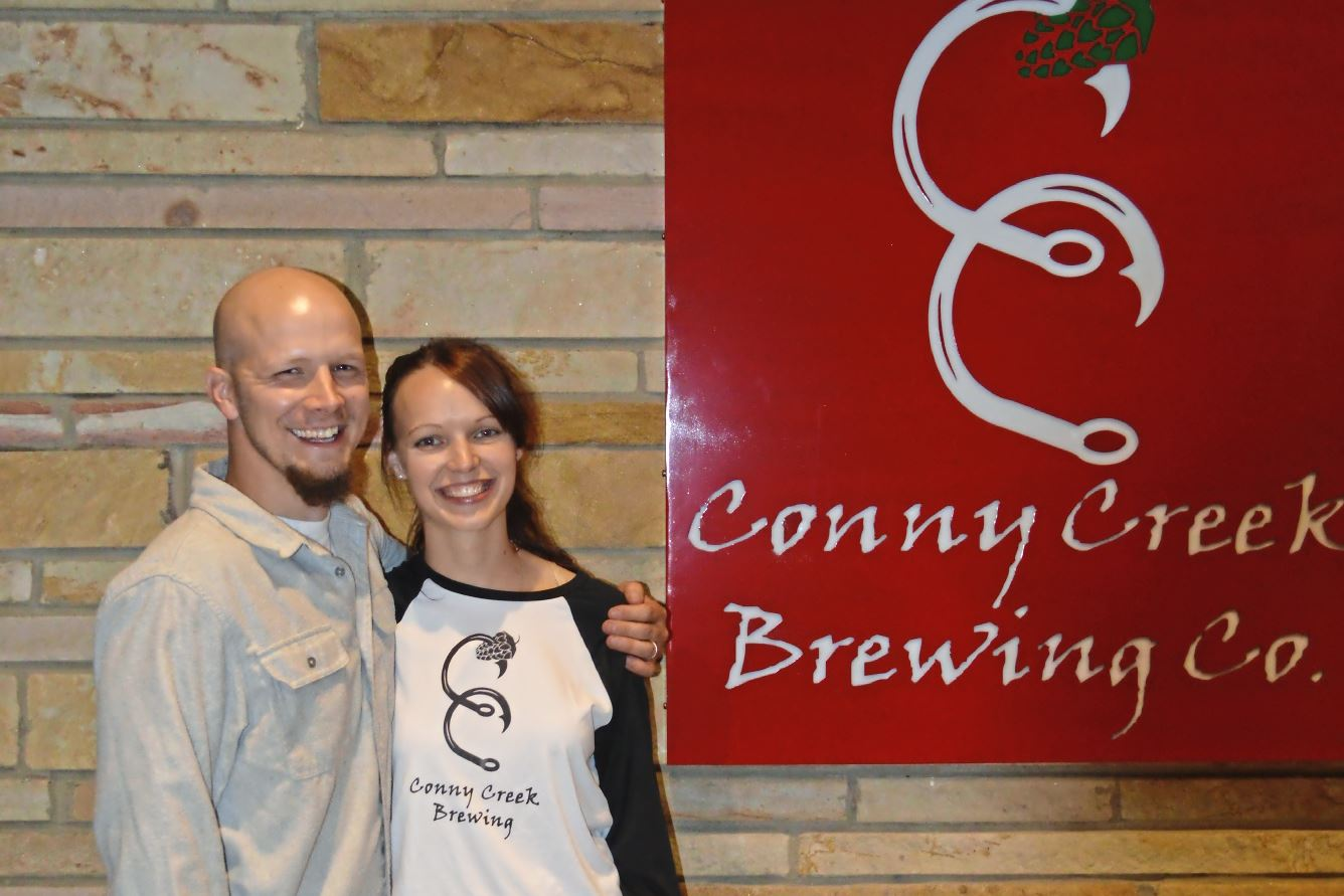 image1 (1)-1 Lee and Erin Layton, owners of the new Conny Creek Brewing Co. near Lower Burrell in Westmoreland County.