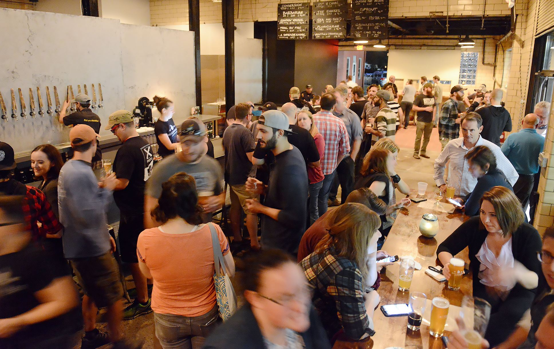 20170906rldHitchhiker04-2 Hitchhiker Brewing Company celebrates the opening of its second location with a soft launch on Sept. 6, 2017, in Sharpsburg.