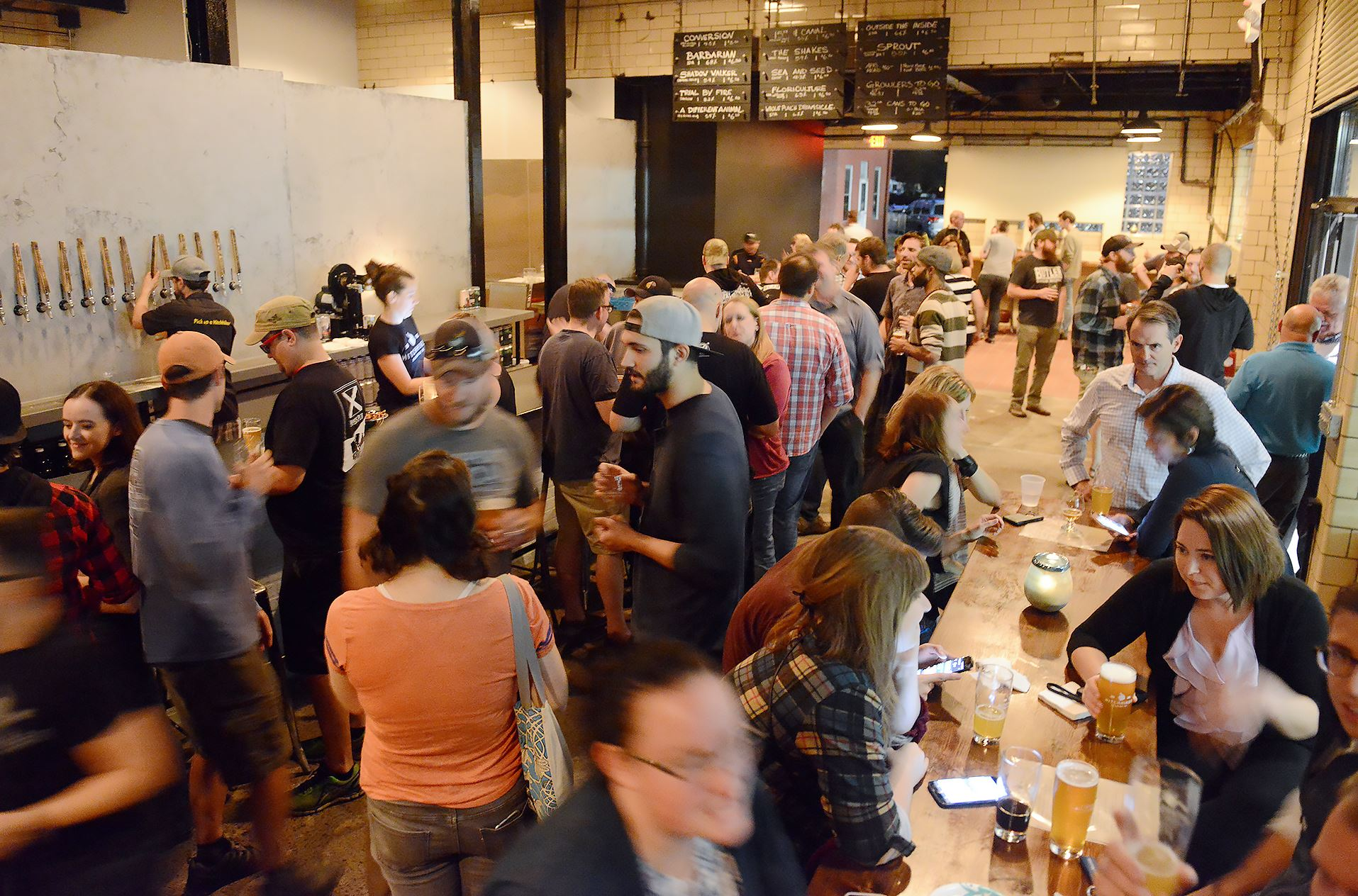 20170906rldHitchhiker04-2 Hitchhiker Brewing Company celebrates the opening of its' second location with a soft launch Wednesday in Sharpsburg.