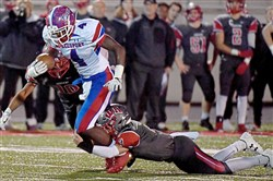 Layton Jordan was a key cog in McKeesport's offense, rushing for 1,313 yards and 16 touchdowns this season.