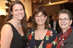 From left: Ann McCarthy, Christine Haas and Dr. Janice Anderson.