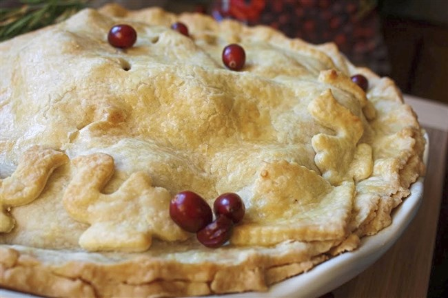 Apple Whiskey Pie from Prohibition Pastries is made with  Aged Wheat Whiskey from Wigle Whiskey. Prohibition Pastries is taking Thanksgiving pie orders through Sunday, Nov. 19.