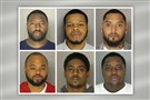 "Six Allegheny County men are charged by the state Attorney General's office, which said they are part of a drug ring selling carfentanil — a drug 10,000 times more potent than morphine. They are, clockwise from top left: Deondray Beasley, 29, of Homestead, who investigators said was ""the Boss""; Derek Williams, 22, of West Virginia Avenue, Munhall; Dorrean Watson, 30, of Beaver Avenue, Marshall-Shadeland; Rand Wolford, 29, of Talbot Avenue, Braddock; Patrick Sanders, 27, of Hillview Street, Duquesne; and James Wells, 29, of Ridge Avenue, North Braddock."