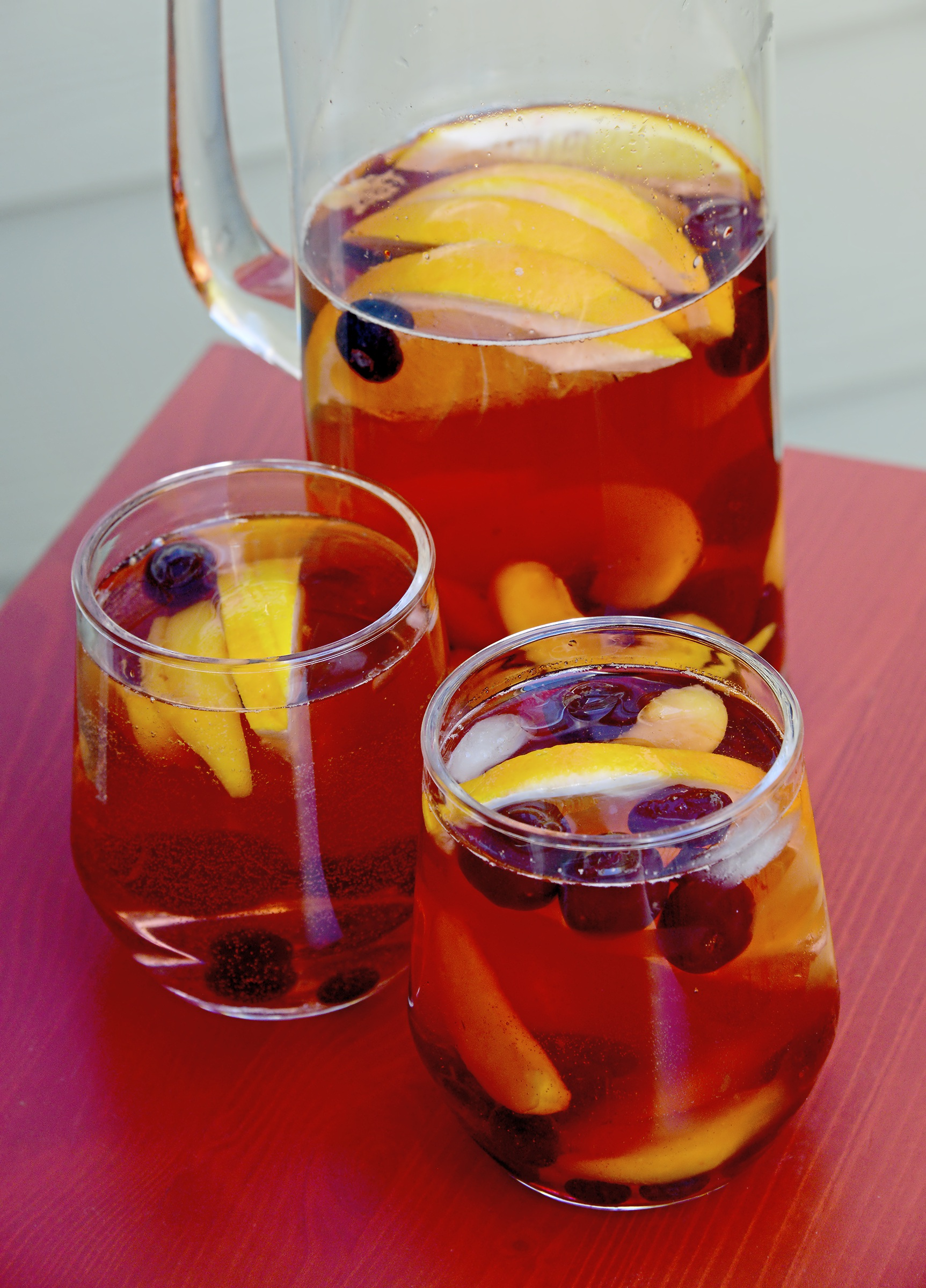 """20171109lf-Thanksgiving09-8 Rose sangria with cherries is from """"Cherry Bombe: The Cookbook"""" by Kerry Diamond and Claudia Wu."""