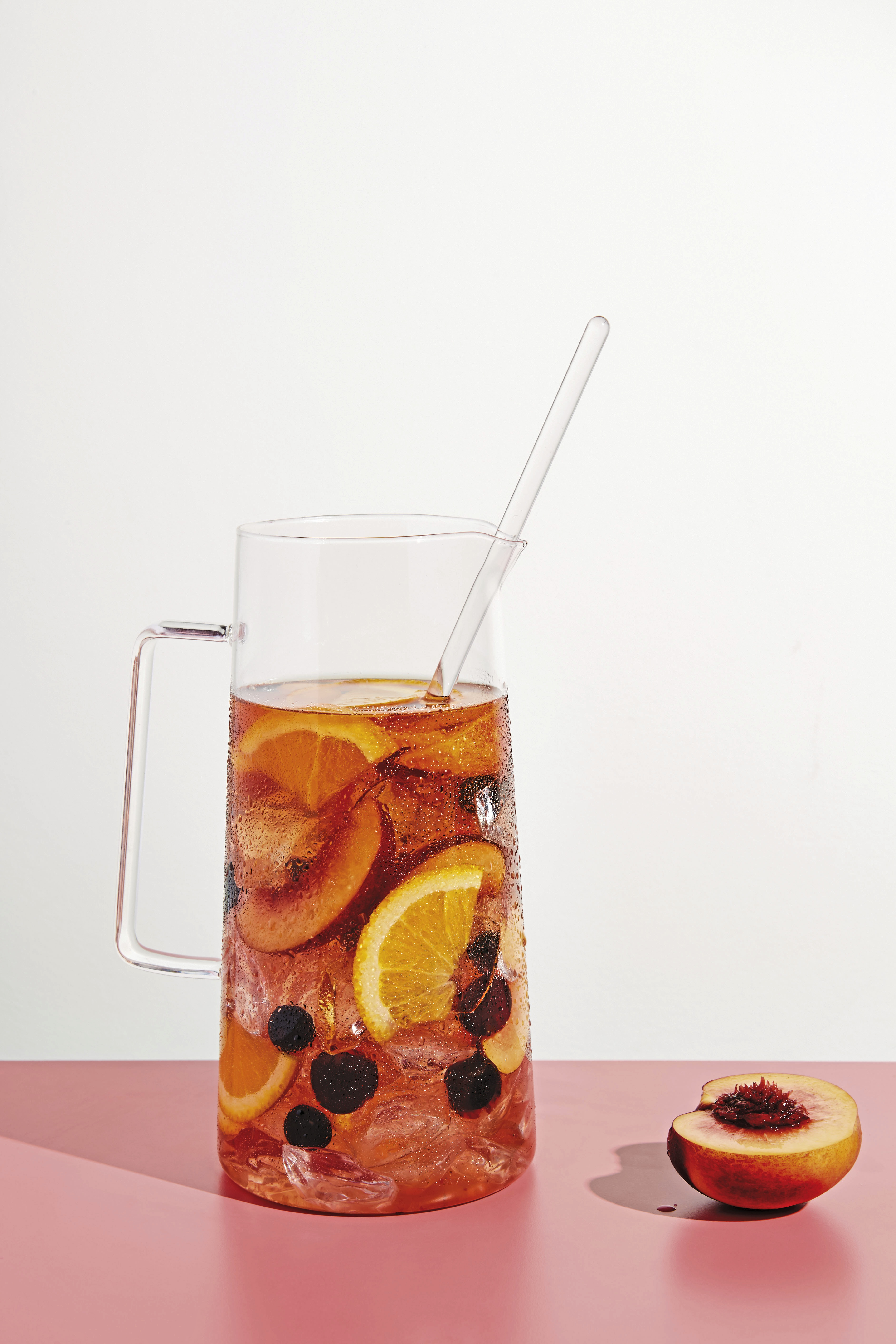 """3518-Diam-9780553459524-art-r1-2 Rose sangria with cherries is from """"Cherry Bombe: The Cookbook"""" by Kerry Diamond and Claudia Wu."""
