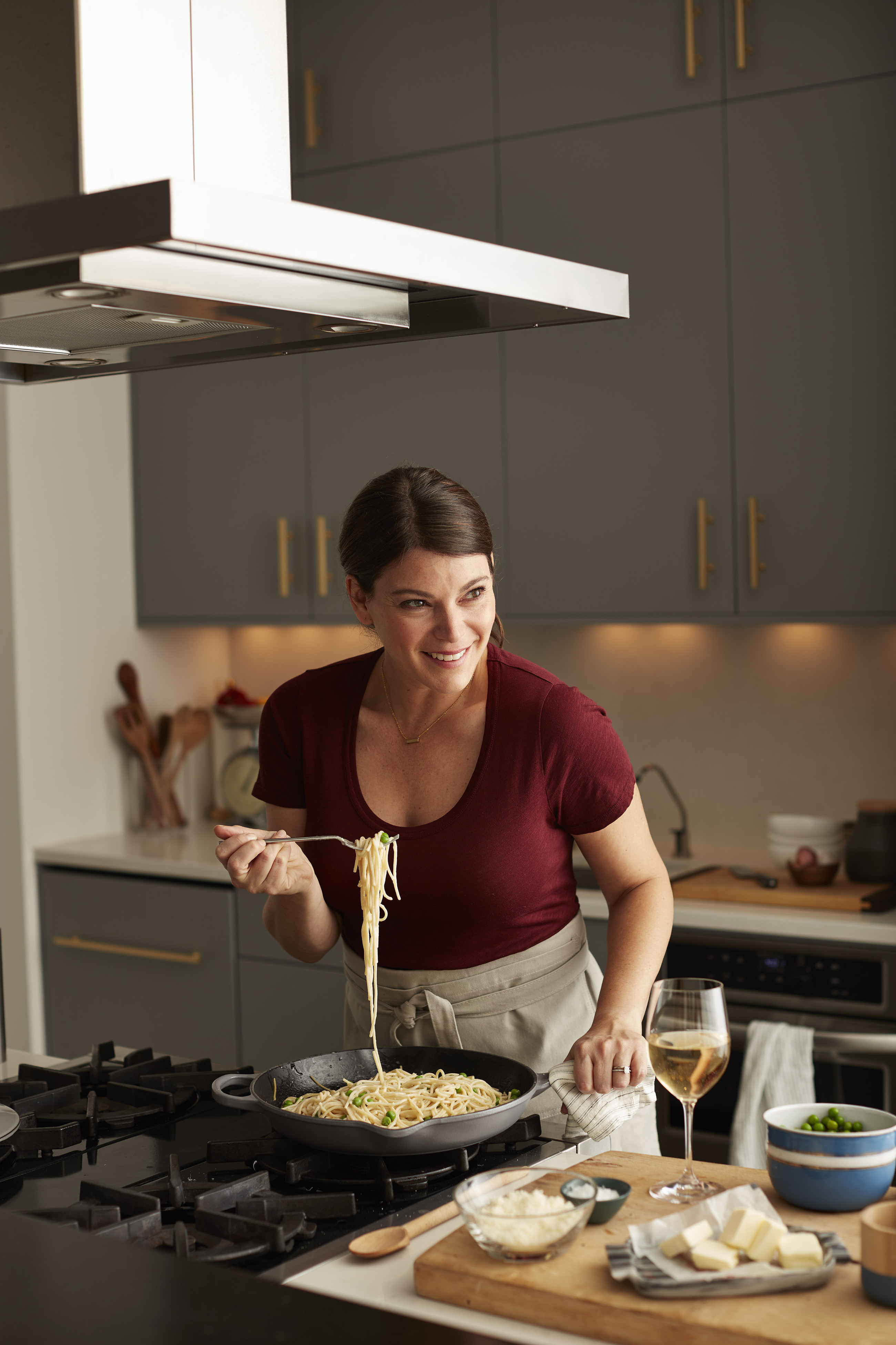 """GailCarbonara-2 Gail Simmons has been at the judging table on the reality TV show, """"Top Chef,"""" for 14 seasons."""