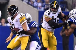 Quarterback Ben Roethlisberger was under pressure in the first half, but bounced back in the second half to lead the Steelers to a 20-17 victory Sunday against the Indianapolis Colts.