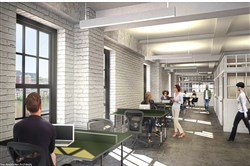 A rendering of Beauty Shoppe space in the Highline redevelopment on the South Side.