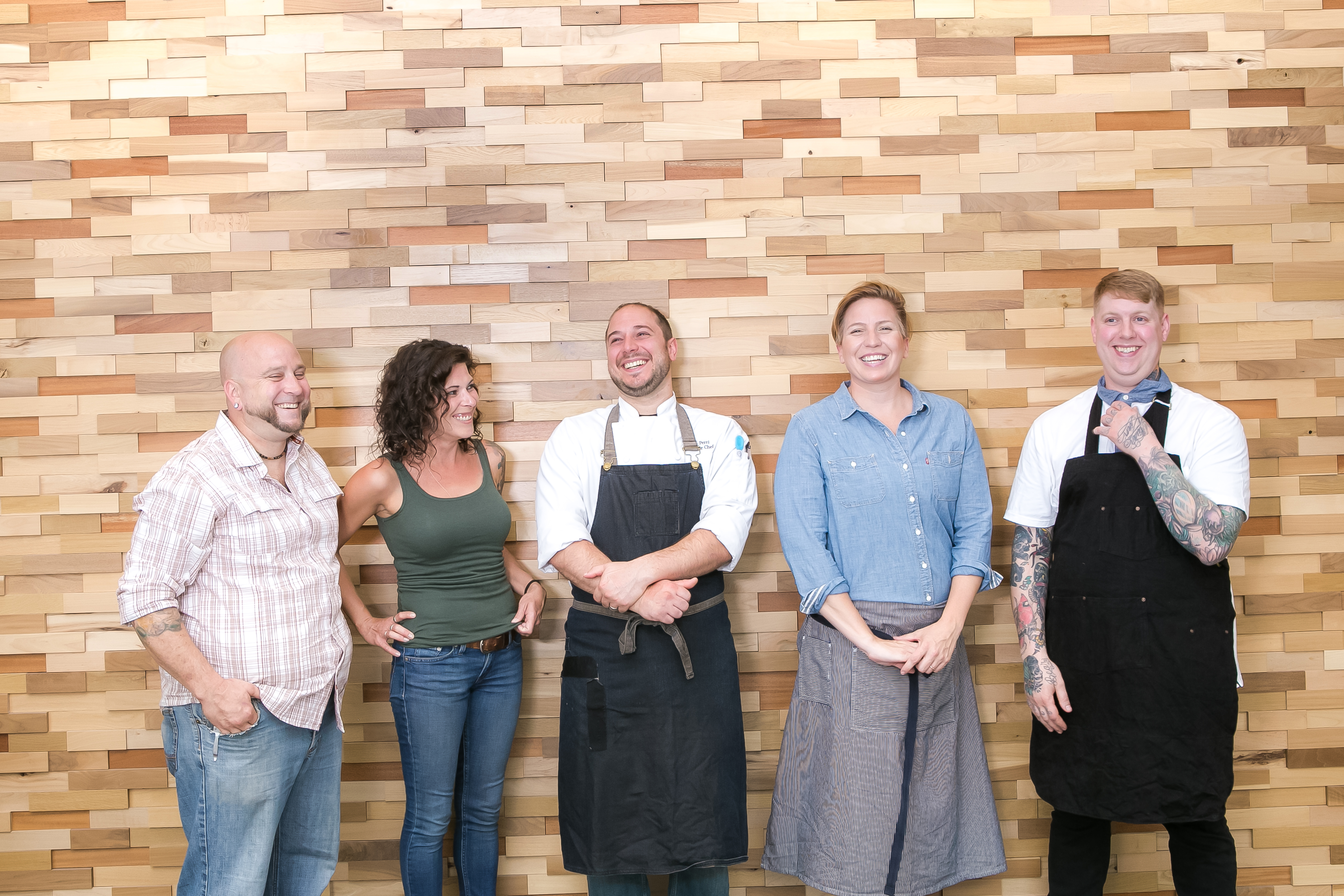 FederalGalley_Chefs_PhotoCred-LauraPetrilla.jpg The new round of chefs at the soon-to-open Federal Galley include Stephen Eldridge and Susan Cope of Provision PGH and El Lugar; Vincent Perri of Supper, and Kristin Calverley and Nate Peck of Michigan & Trumbull.