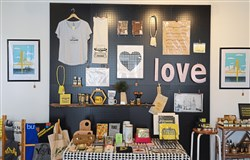 The gift shop love, Pittsburgh on Mount Washington sells items made in Pittsburgh. A second location is slated to open Downtown this spring.