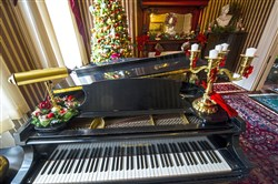 The music room in the home of Erik VanBuren and Drew Gorenz on the North Side. It will be one of six stops on the Old Allegheny Victorian Christmas House Tour.