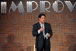State Sen. Jay Costa Jr. performs during a Candidates Comedy Night at the Pittsburgh Improv in Homestead in 2012.