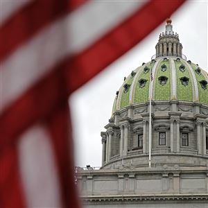This Wednesday, Oct. 7, 2015 file photo shows the Pennsylvania Capitol building in Harrisburg, Pa.