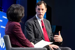 In this file photo, White House cybersecurity coordinator Rob Joyce discusses pressing cyber threats facing the country during a Washington Post Live event in October.