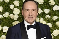 In this June 11, 2017, file photo, Kevin Spacey arrives at the 71st annual Tony Awards at Radio City Music Hall in New York.