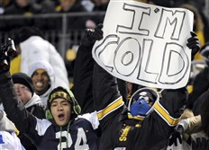 In this file photo, Steelers fans brave the cold at Heinz Field.