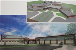 Artist rendering of the new Peters Township High School