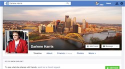 Part of the new public square: City Councilwoman Darlene Harris' Facebook page.