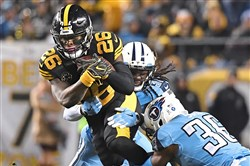 Running back Le'Veon Bell and his teammates deployed yet another creative touchdown celebration Thursday against the Tennessee Titans.