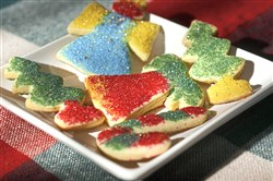 Kringle's Cutout Sugar Cookies by Post-Gazette fashion editor Sara Bauknecht. PG writers, editors and photographers made a variety of Christmas cookies for the 2017 holiday season.