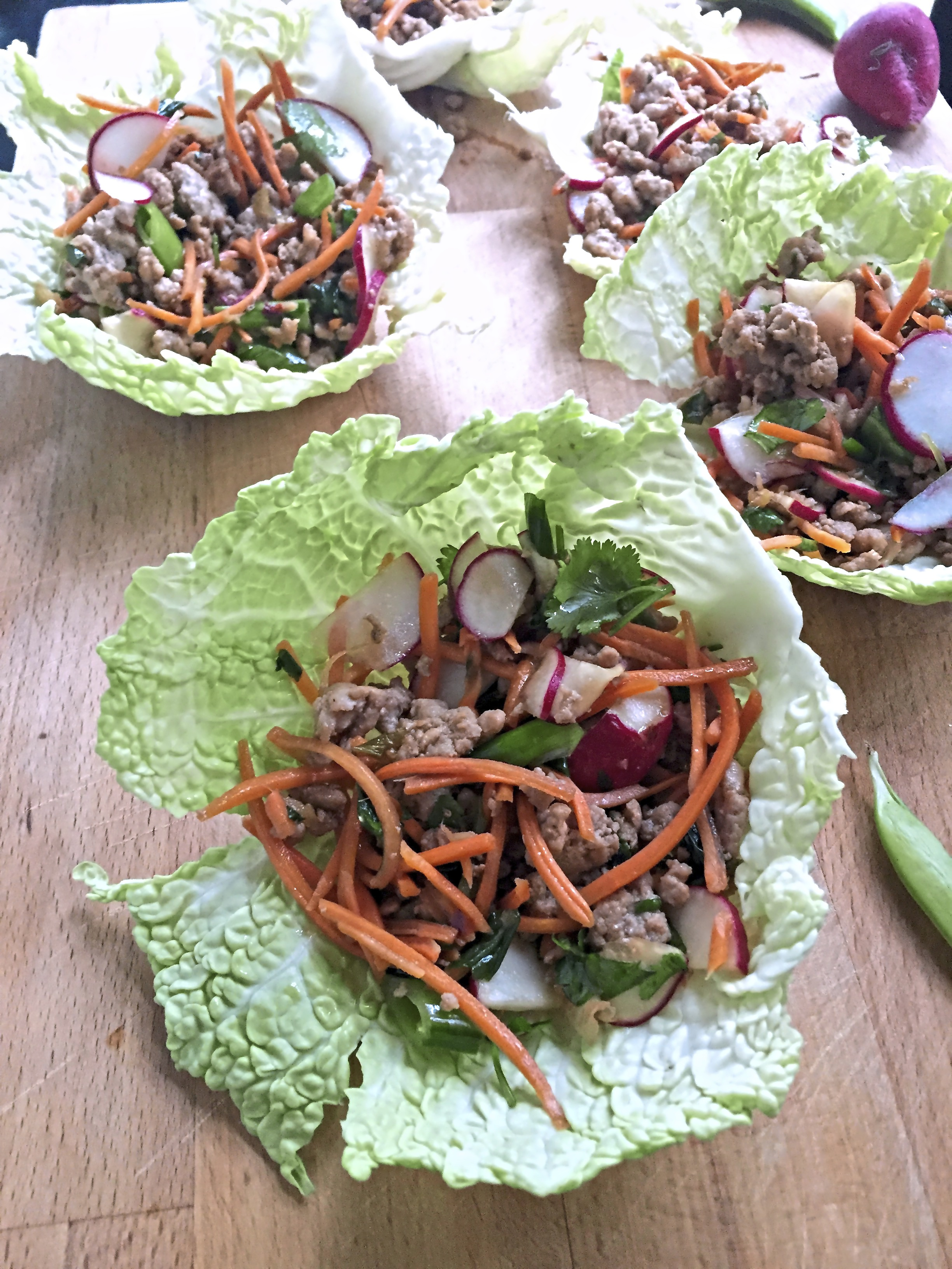 Asian Pork Cups Asian Pork Cabbage Cups