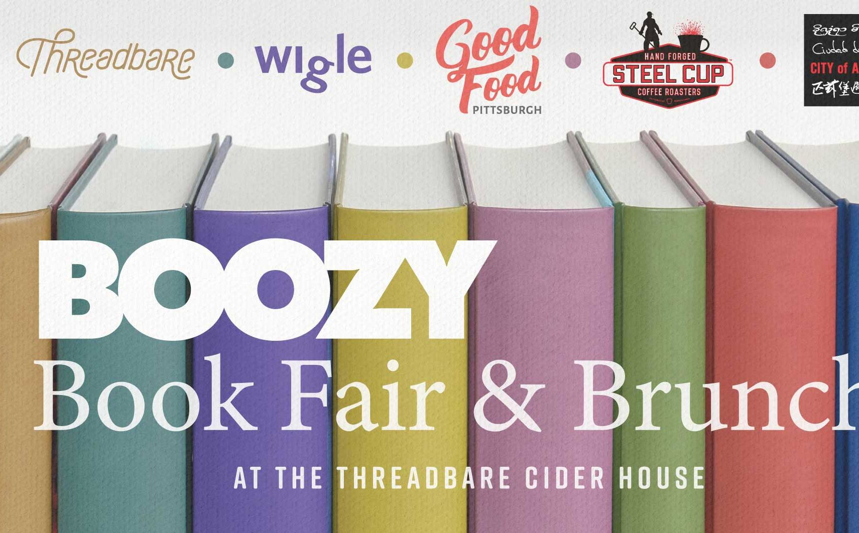 Boozy Boozy Brunch Book Fair will be held on Sunday at Wigle Whiskey's new cider-making offshoot in Spring Garden.