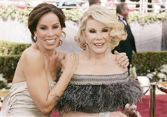 "From left, Melissa Rivers and her mother, comedian Joan Rivers, on the red carpet at the Academy Awards in 2006. Following Joan Rivers' death, her daughter continued as executive producer and part of the cast of ""Fashion Police"" on the E! network."