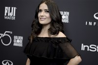 In this file photo, Salma Hayek attends the HFPA and InStyle Celebrate the 2018 Golden Globe Awards Season at Catch LA on Nov. 15, 2017, in West Hollywood, Calif.