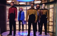 "The Steel City Con at the Monroeville Convention Center Dec. 8-10 will feature a ""Star Trek: The Next Generation"" reunion with: Jonathan Frakes (far left), LeVar Burton (center) and Brent Spiner (far right)."