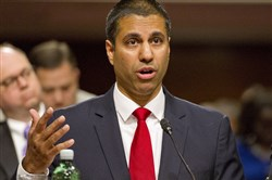 Federal Communications Commission Chairman Ajit Pai testifies July 19, 2017, before the U.S. Senate Committee on Commerce, Science and Transportation on Capitol Hill in Washington.