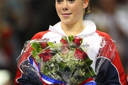 This file photo shows McKayla Maroney, the gymnast, at the U.S. Olympic Women's Gymnastics Team Trials in San Jose, Calif., on July 1, 2012.