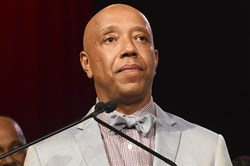 In this July 18, 2015, file photo, Russell Simmons appears at the RUSH Philanthropic Arts Foundation's Art for Life Benefit in Water Mill, N.Y.