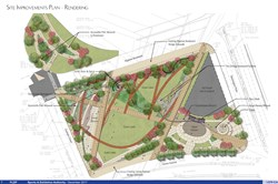 This is an artist rendering of the $26.4 million park to be built over Interstate 579.
