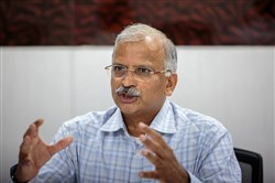 Satyanarayana Chava, founder and chief executive officer of Laurus Labs, speaks during an interview in Visakhapatnam, India, on Nov. 15, 2017.