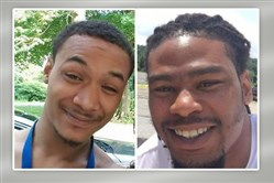 Anthony Bailey, 27, right, was shot and killed in Pitcairn on March 7. His brother, 22-year-old Allen Bailey, left, was killed Monday in Lincoln-Lemington.