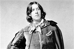 Playwright Oscar Wilde is seen in this 1882 photo taken in New York.