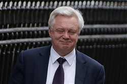 In this file photo, Britain's Secretary of State for Exiting the European Union (Brexit Minister) David Davis leaves Downing Street in central London on December 6, 2017.