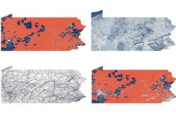 Maps generated using data turned over by Pennsylvania House Speaker Mike Turzai during the federal gerrymandering trial Agere v. Wolf.