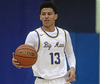 Canon-McMillan's Kenyon Lewis made 6 of 7 shots against Seneca Valley to help the Big Macs to a WPIAL first-round playoff win.