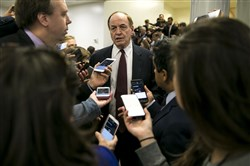 In this file photo, Sen. Richard Shelby (R-Ala.) speaks with reporters on Capitol Hill in Washington on Nov. 28, 2017.